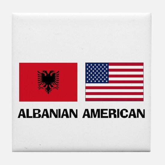 Albanian American Tile Coaster