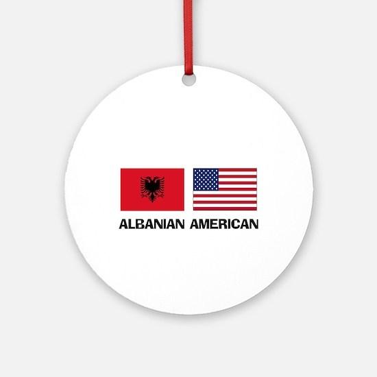 Albanian American Ornament (Round)