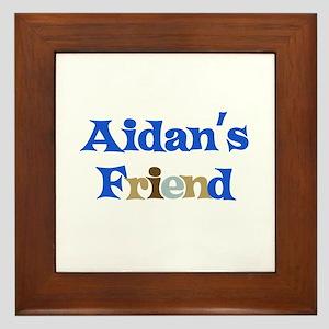 Aidan's Friend Framed Tile