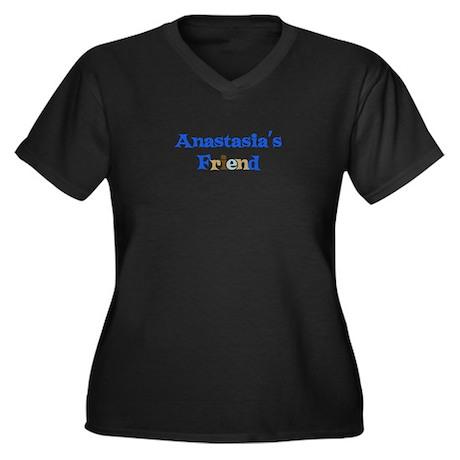 Anastasia's Friend Women's Plus Size V-Neck Dark T