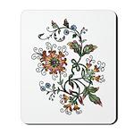 Beautiful Floral Art Design Mousepad