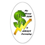 Money Reiki Infused Stickers (Oval )