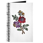 Red and Purple Floral Art Journal