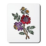 Red and Purple Floral Art Mousepad