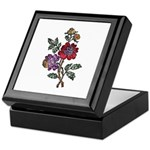 Red and Purple Floral Art Keepsake Box