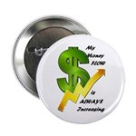 """Pin On Money Reiki Infused 2.25"""" Buttons (10"""