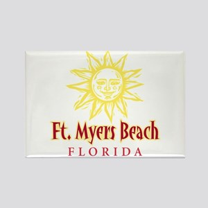 Ft. Myers Beach Sun - Rectangle Magnet