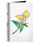 Yellow Floral Art Journal