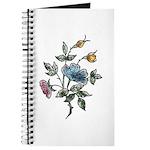 Blue Floral Art Journal