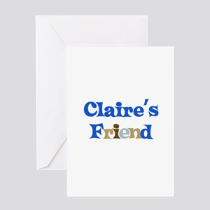Claire's Friend Greeting Card