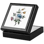 Blue Floral Art Keepsake Box