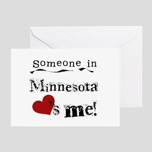 Minnesota Loves Me Greeting Card