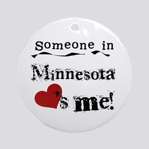 Minnesota Loves Me Ornament (Round)