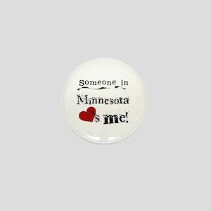 Minnesota Loves Me Mini Button