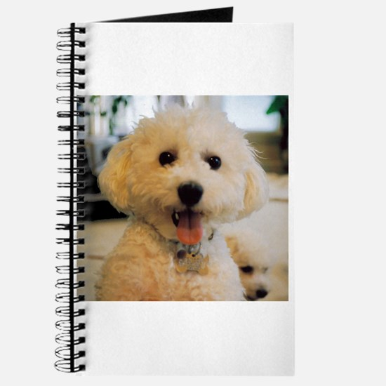 HAPPY BICHON PUPPY FACE JOURNAL