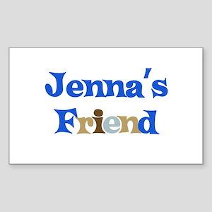 Jenna's Friend Rectangle Sticker