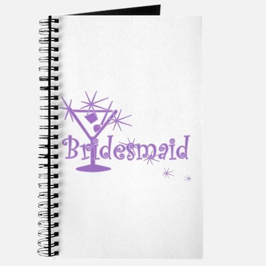Purple C Martini Bridesmaid Journal
