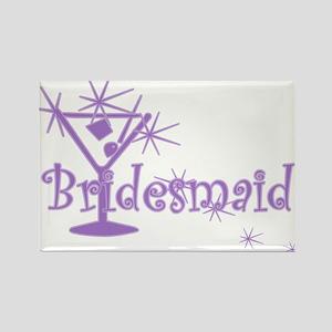 Purple C Martini Bridesmaid Rectangle Magnet