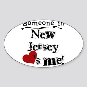 Someone in New Jersey Oval Sticker