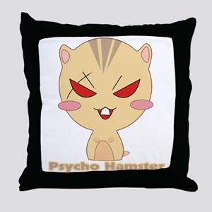 Psycho Hamster Throw Pillow