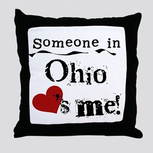 Someone in Ohio Throw Pillow