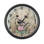 Buff Cocker Spaniel Large Wall Clock