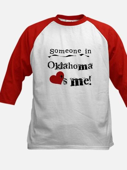 Someone in Oklahoma Kids Baseball Jersey