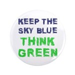 """Think Green! 3.5"""" Button (100 pack)"""