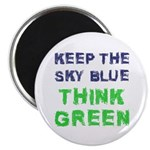 """Think Green! 2.25"""" Magnet (10 pack)"""