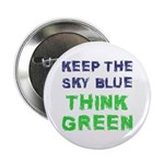 """Think Green! 2.25"""" Button (10 pack)"""