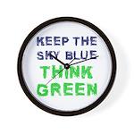 Think Green! Wall Clock