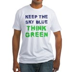 Think Green! Fitted T-Shirt