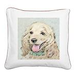 Buff Cocker Spaniel Square Canvas Pillow