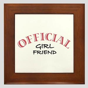 Official Girl Friend Framed Tile