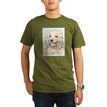 Buff Cocker Spaniel Organic Men's T-Shirt (dark)