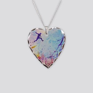 Parkour Urban Obstacle Course Necklace Heart Charm