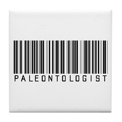 Paleontologist Bar Code Tile Coaster