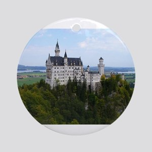 KING LUDWIG'S CASTLE ORNAMENT (ROUND)