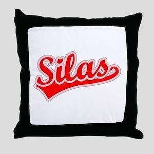 Retro Silas (Red) Throw Pillow