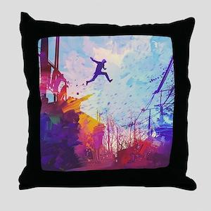 Parkour Urban Obstacle Course Throw Pillow