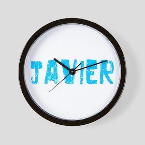 Javier Faded (Blue) Wall Clock