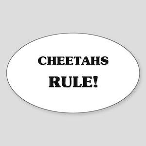 Cheetahs Rule Oval Sticker
