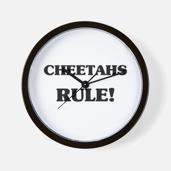 Cheetahs Rule Wall Clock
