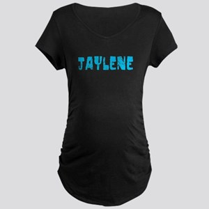 Jaylene Faded (Blue) Maternity Dark T-Shirt