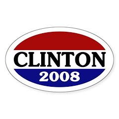 Clinton 2008 (oval bumper sticker)