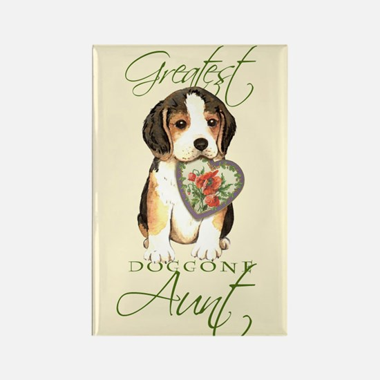 Beagle Aunt Rectangle Magnet