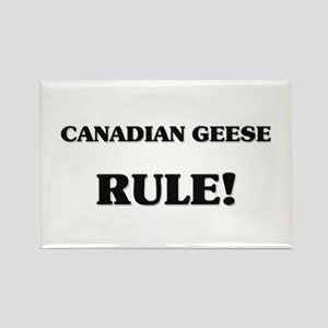 Canadian Geese Rule Rectangle Magnet