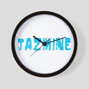 Jazmine Faded (Blue) Wall Clock