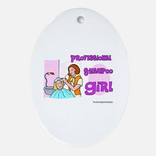 Professional Shampoo Girl Keepsake (Oval)