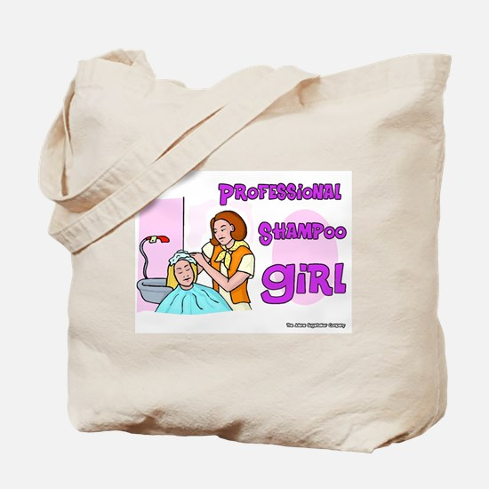 Professional Shampoo Girl Tote Bag